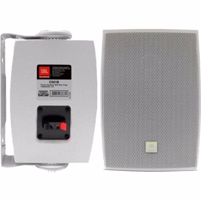 Caixa Som Ambiente Jbl Selenium C621 100w Par Branco
