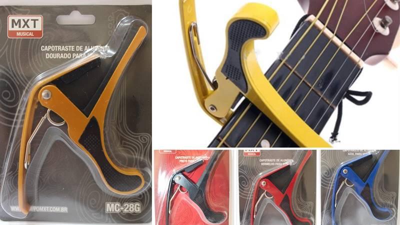 Capotraste De Alumínio Guitarra E Violão MXT + BRINDE
