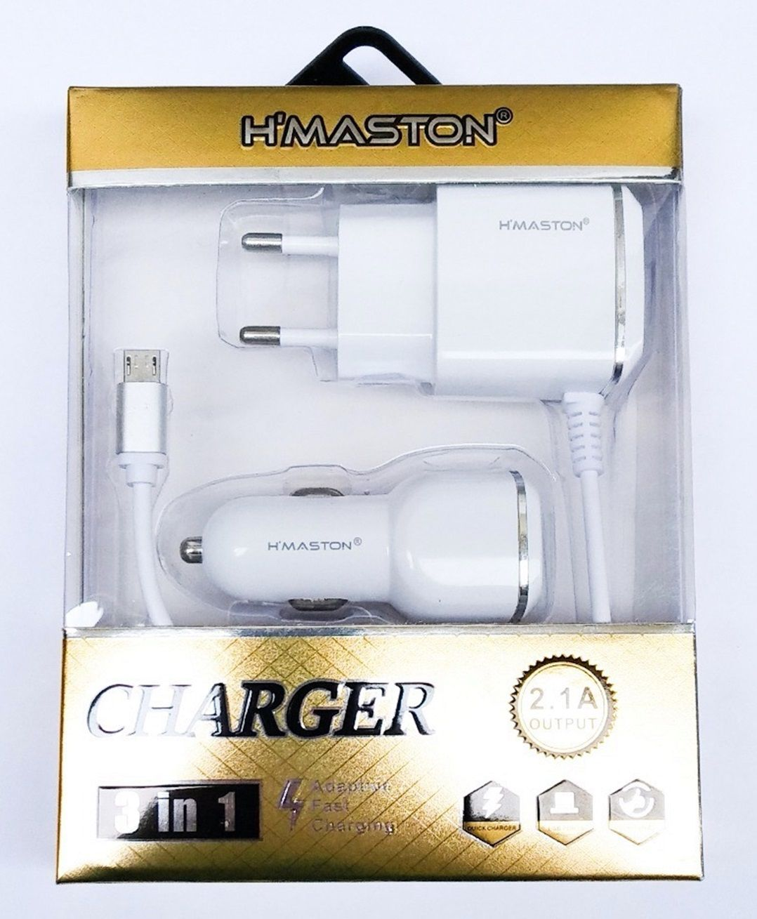 Carregador 3 in 1 micro usb 2.1 A