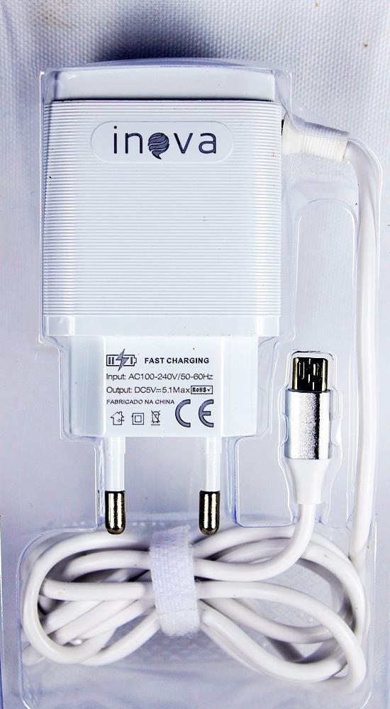 Carregador Micro Usb V8 Com 3 Usb Inova 5.1A
