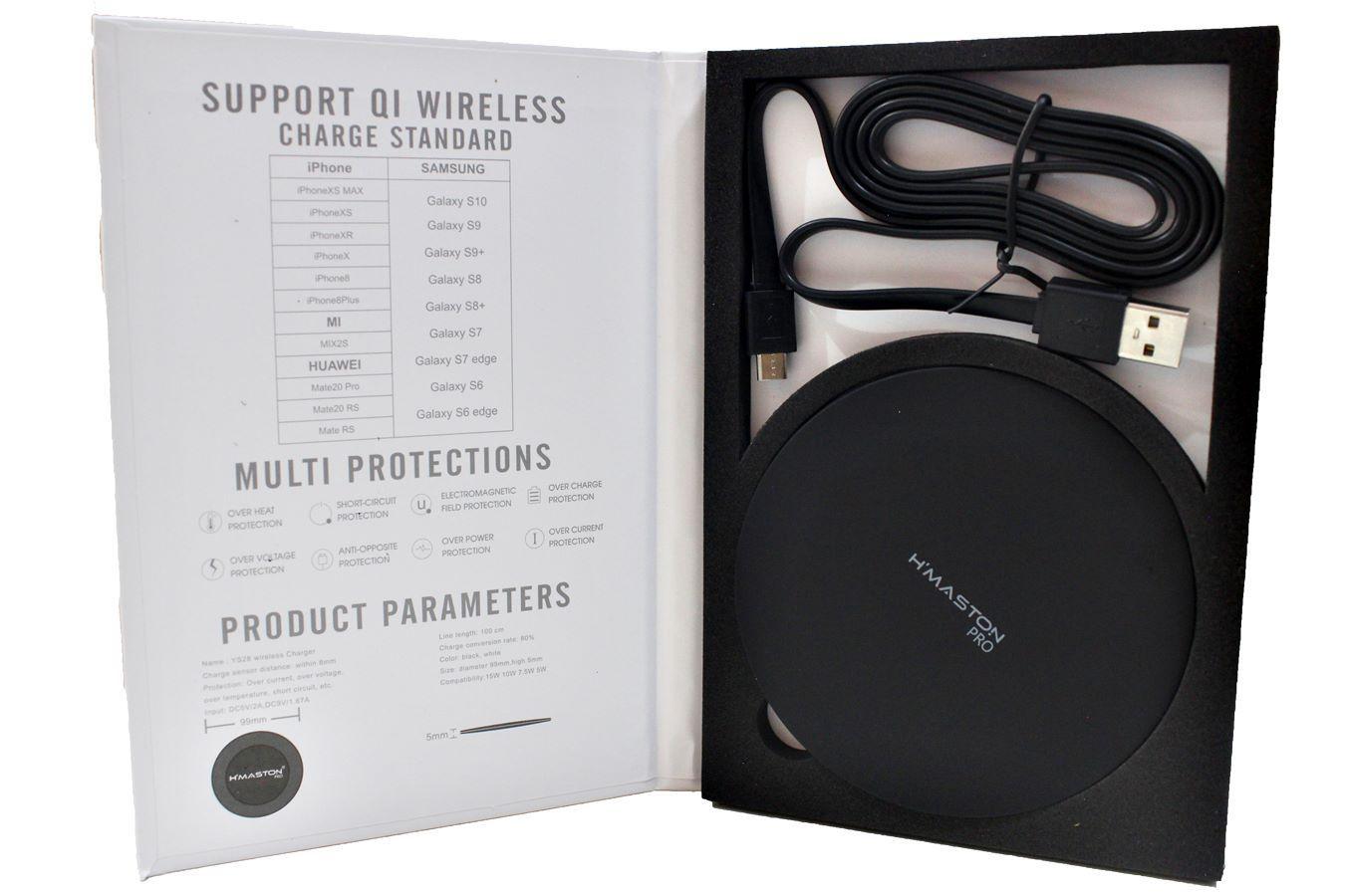 Carregador Sem Fio Wireless Qi Fast Charger Samsung iPhone 15w