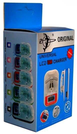 Carregador Universal Bateria Lcd Usb Charger 220v