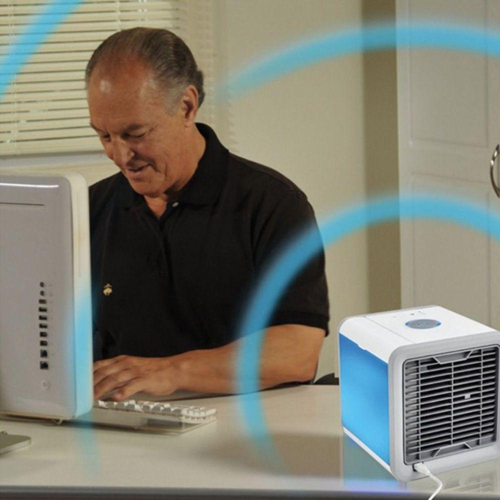 Climatizador Ventilador Ar com Luminária Aguá Cooler Cool Gelado