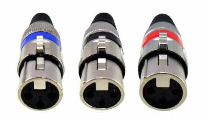 Conector Plug Canon Xlr Fêmea Microfone Dmx Cannon
