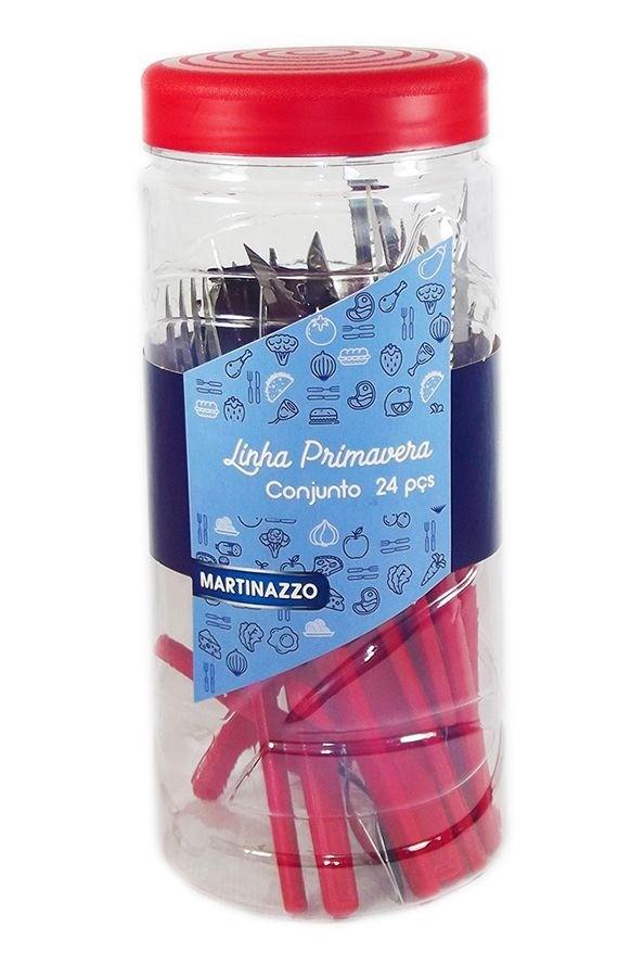 Faqueiro Martinazzo Primavera Aço Inox 24 Peças
