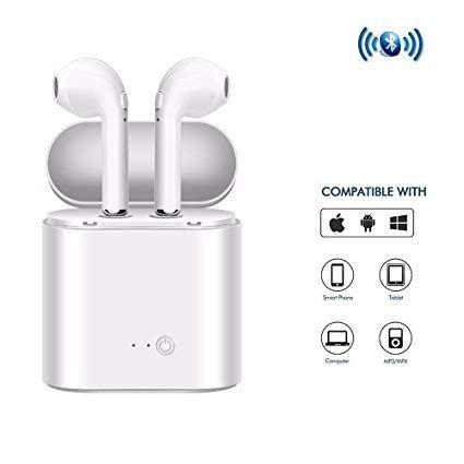 Fone De Ouvido Bluetooth Earbuds I7s 4.2 +DER - branco