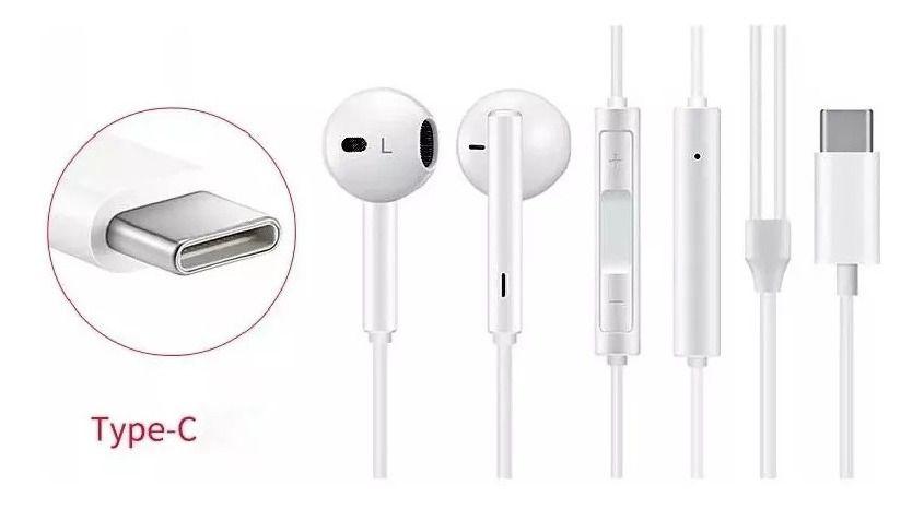Fone De Ouvido tipo Earpods Microfone para celulares com conector Tipo C