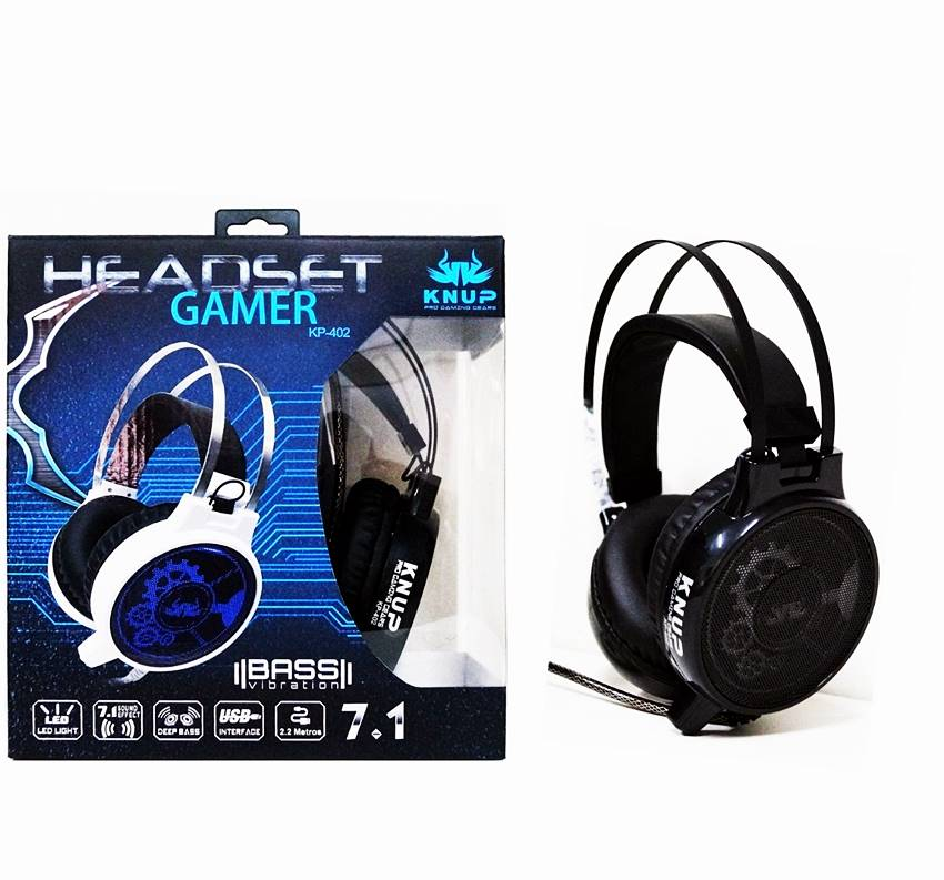 Fone Headset Gamer 7.1 bass vibration com led