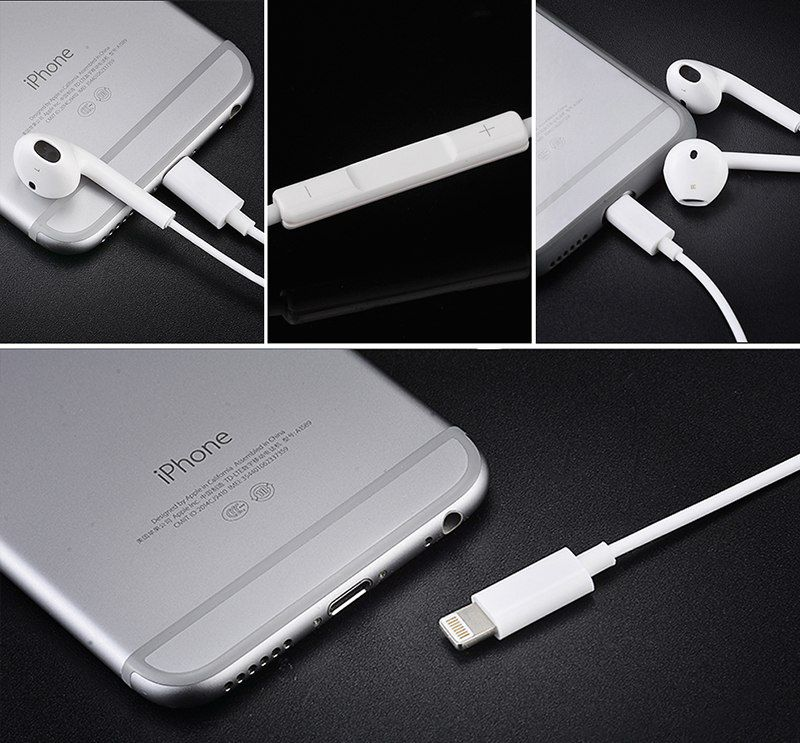 Fone para iphone 8 7 Plus X XR XS Max 10  Earpods Lighting
