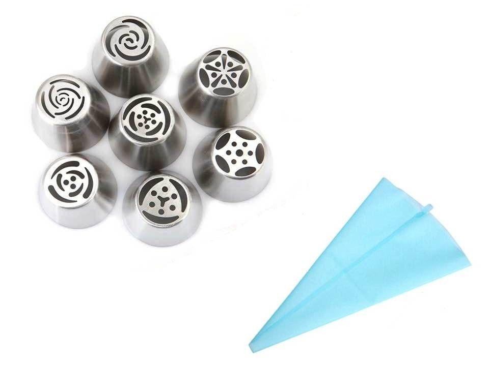 Kit bico russo 10 peças confeitar Aço inox