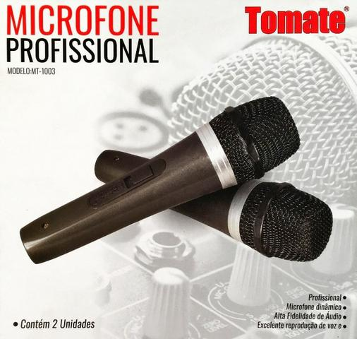Kit Com 2 - Microfone Profissional Tomate Mt-1003 + Cabos