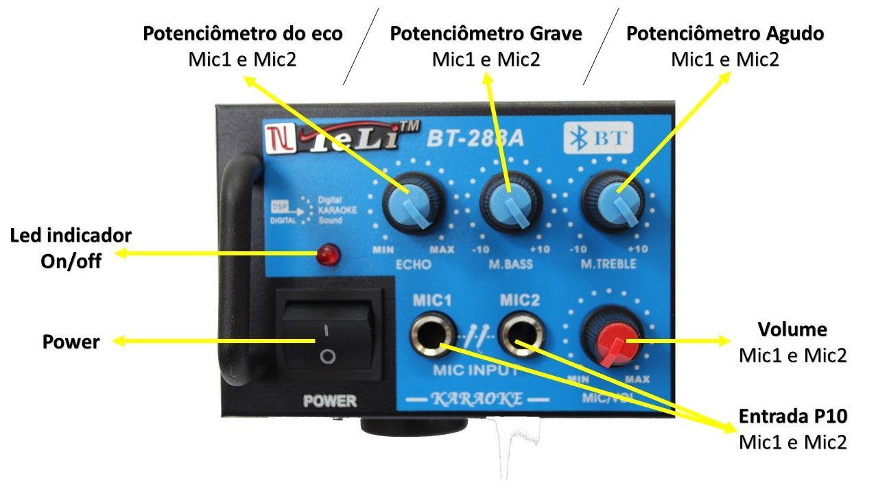 Kit de som ambiente 4 caixas Hayonik branca 3 vias amplificador com Bluetooth kit-E6