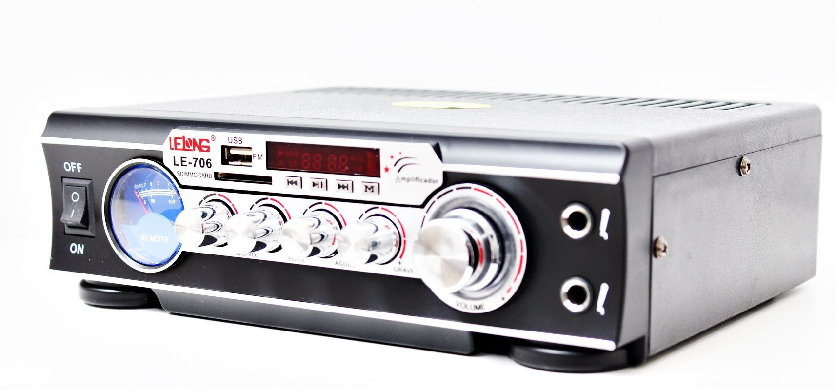 Kit de som ambiente caixas Hayonik Branca 3 vias amplificador com Bluetooth kit-A3
