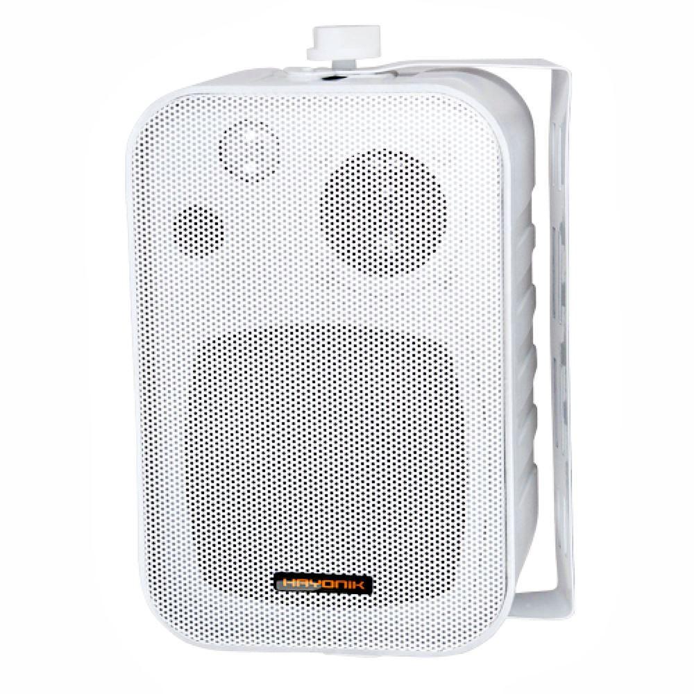 Kit de som ambiente caixas Hayonik Branca 3 vias amplificador com Bluetooth kit-D3