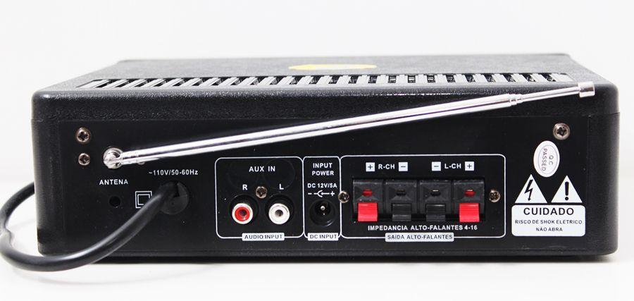 Kit de som ambiente caixas JBL amplificador com Bluetooth kit-A4