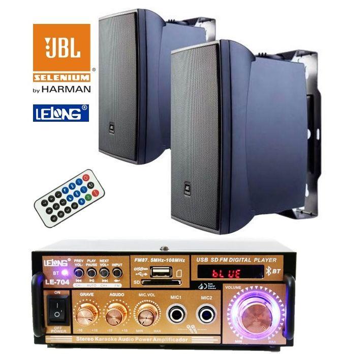 Kit de som ambiente caixas JBL amplificador com Bluetooth kit-B1