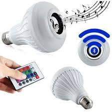 Lâmpada Led Rgb Bluetooth Controle Remoto Caixa De Som