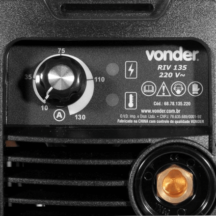 Máquina De Solda Inversora Eletrodo 130a Riv135 220v Vonder