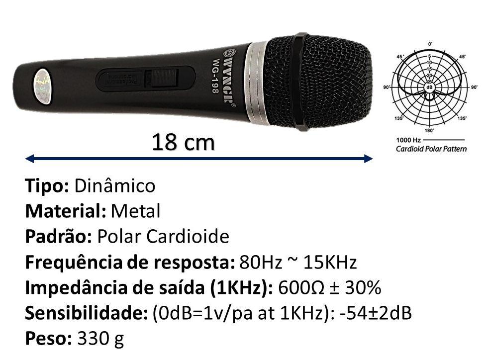 Microfone com fio Profissional WG-198