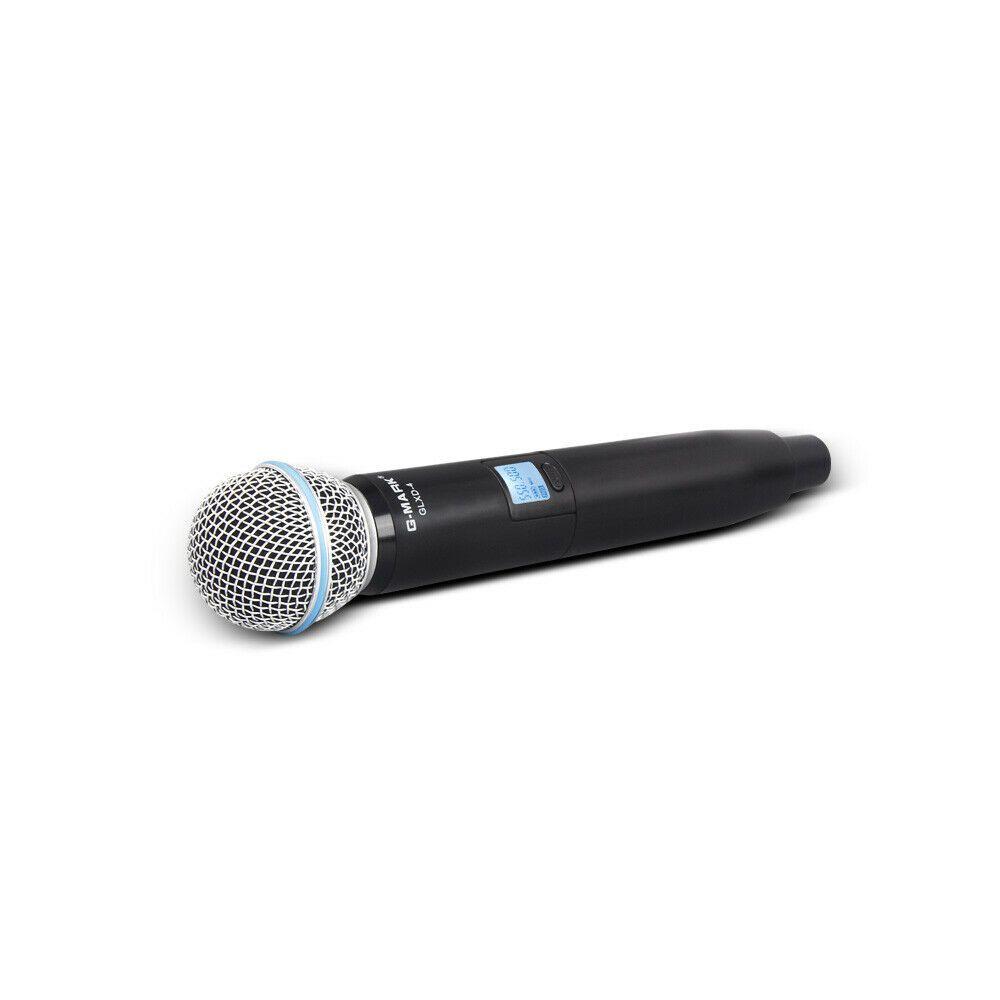 Microfone profissional G-MARK UHF com case personalizado Digital