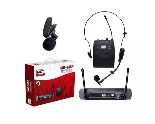 Microfone sem fio profissional Lapela UHF