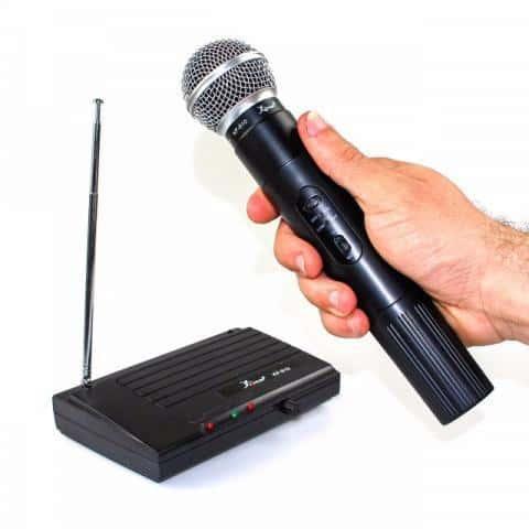 Microfone sem fio VHF simples KP-910