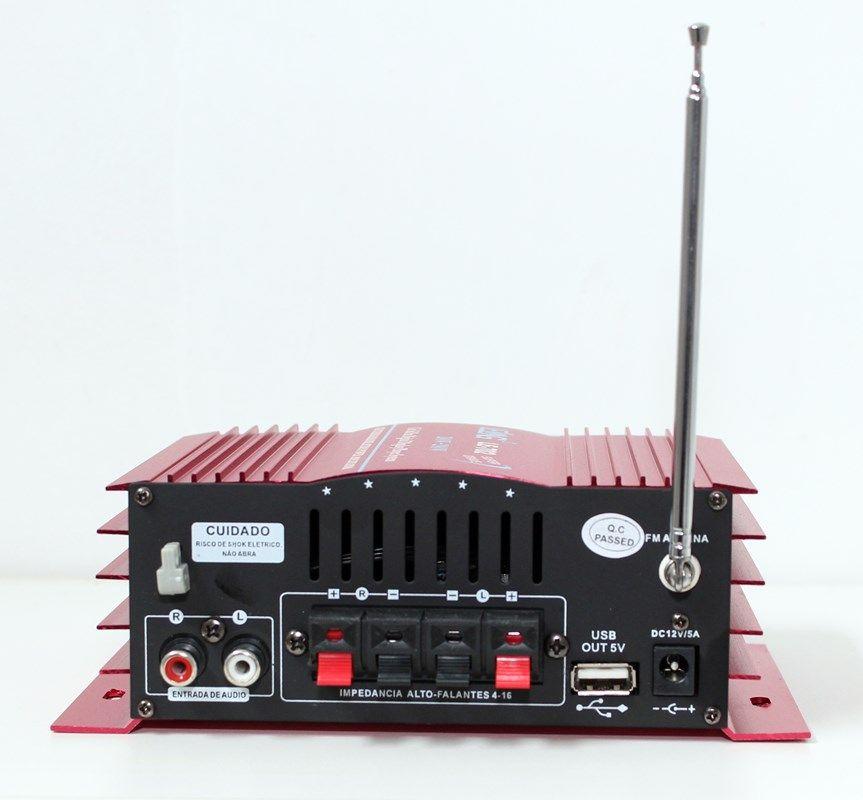 Mini Amplificador universal de som com 2 canal karaokê e bluetooth