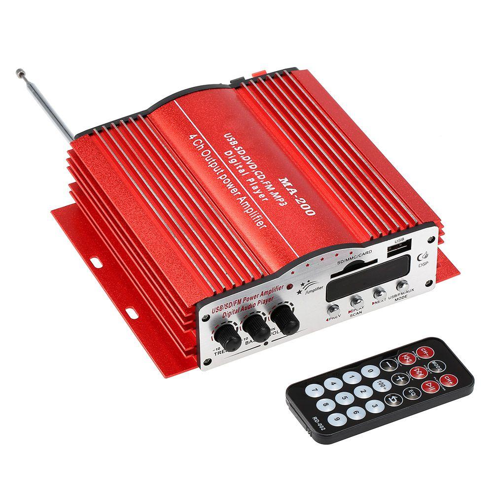 Mini Módulo Amplificador 4 Canais  - 164 RMS - completo