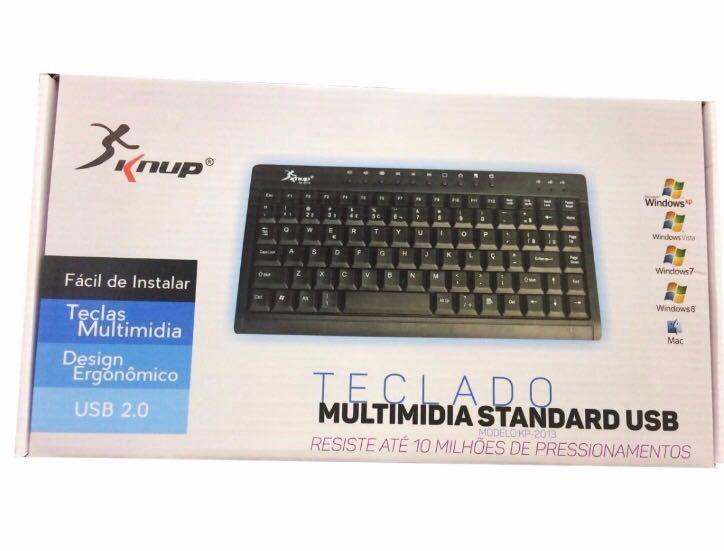 Mini Teclado Multimídia Usb Knup