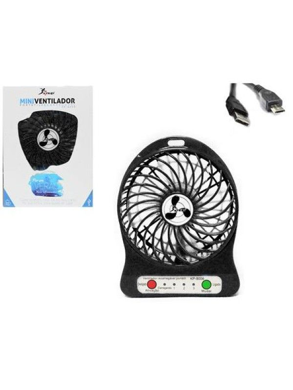 MINI VENTILADOR E POWER BANK KNUP KP-9006