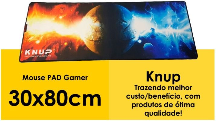 MOUSEPAD GAMER ALTO DESEMPENHO 30 CM X 80 CM