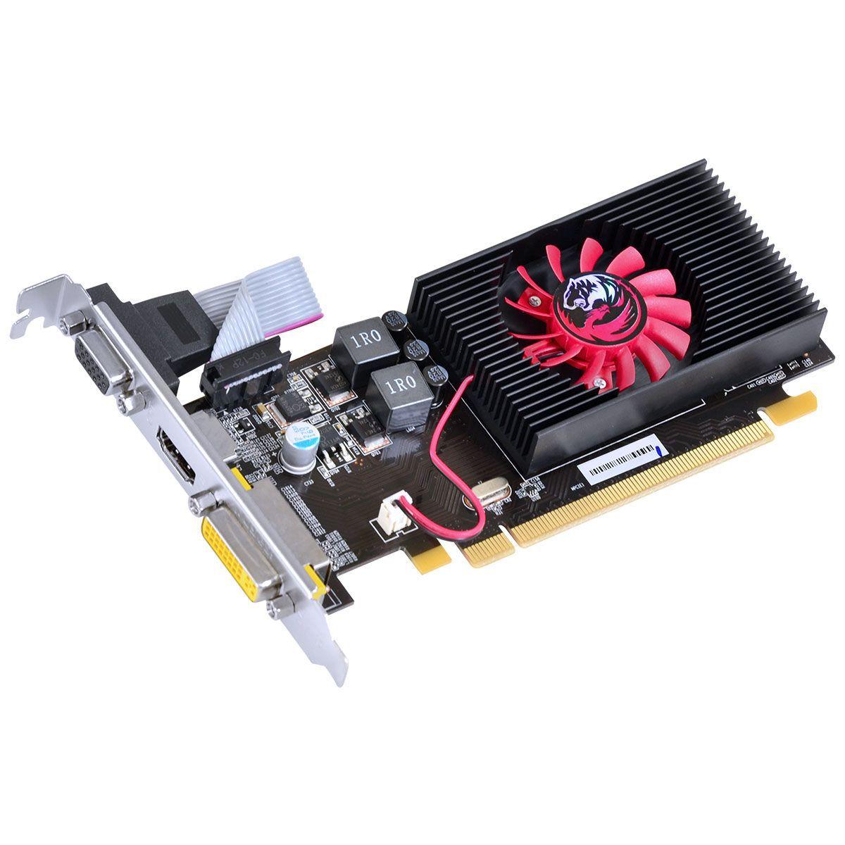 PLACA DE VIDEO HD 5450 1GB DDR3 64 BITS COM KIT LOW PROFILE INCLUSO - PTYT54506401D3LP