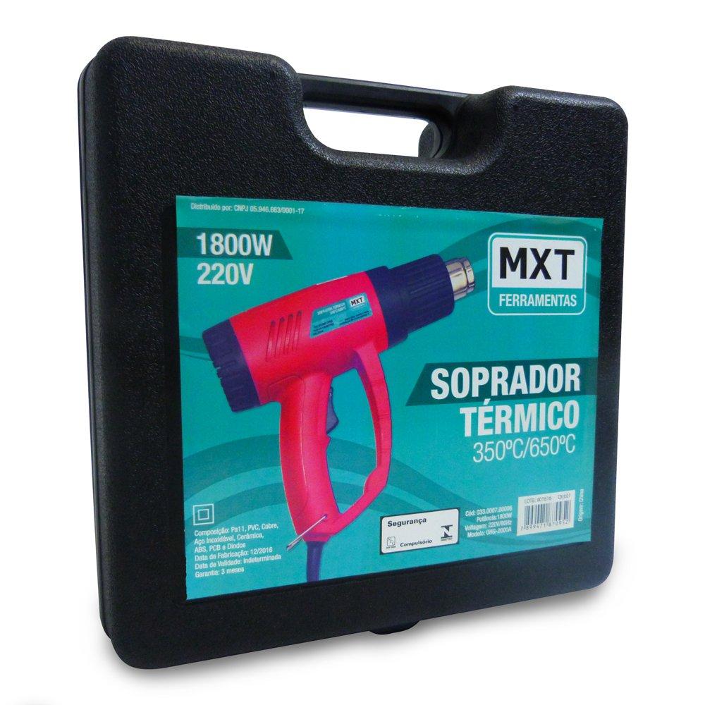 Soprador Térmico de Ar Quente 1800w - Maleta para Transporte com Acessórios - 220v