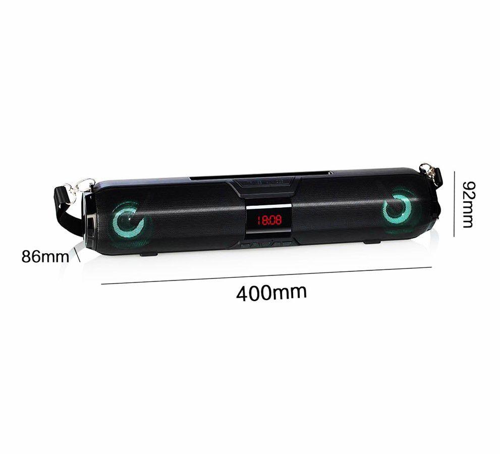 Soundbar bluetooth H'maston com entrada usb sdcard fm 20 RMS