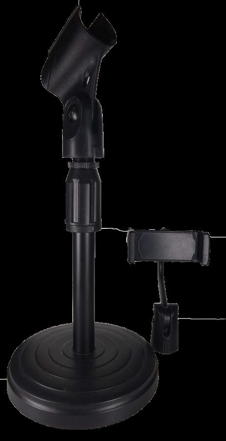 Suporte De Mesa Para Microfone e celular Mini Pedestal Portátil