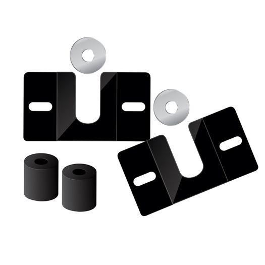 Suporte Fixo Universal para TV – Linha Prática – de 14 POL a 105 POL  – Roldanas de Alumínio - 6 Anos de Garantia