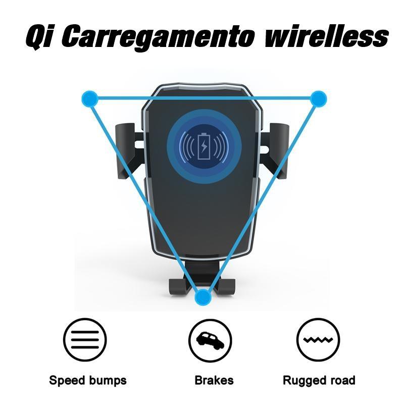 Suporte veicular com carregador wirelles Qi - carregador por indução