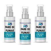 Pare de fumar - 3 Sprays de 180 jatos (60 ml)