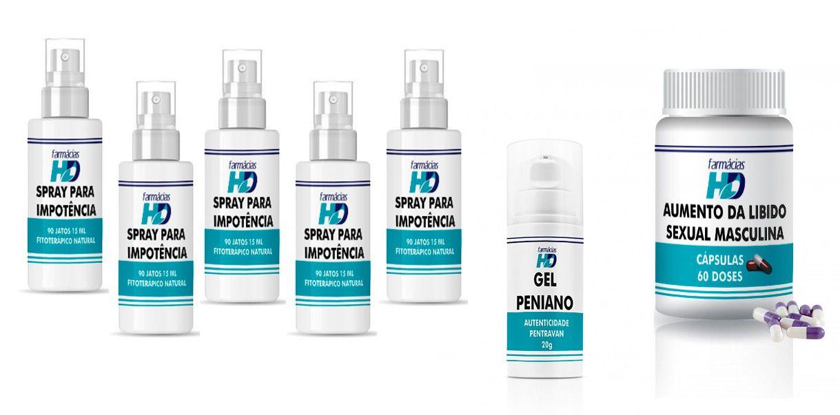 spray para impotência + gel + vitamina potencializadora