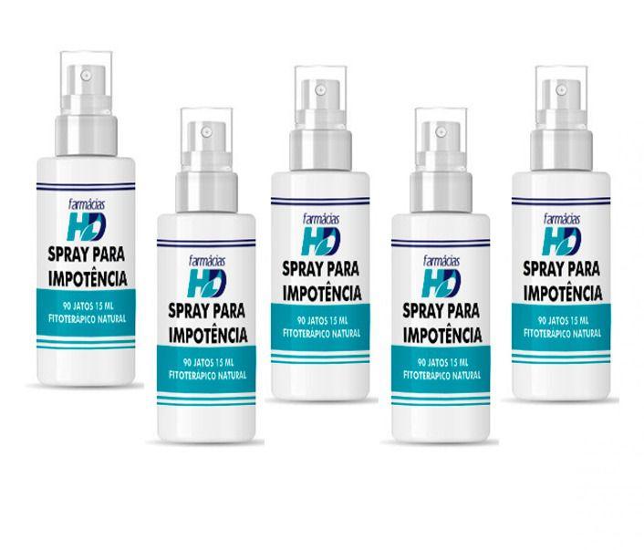 Spray para impotência HD 5 frascos