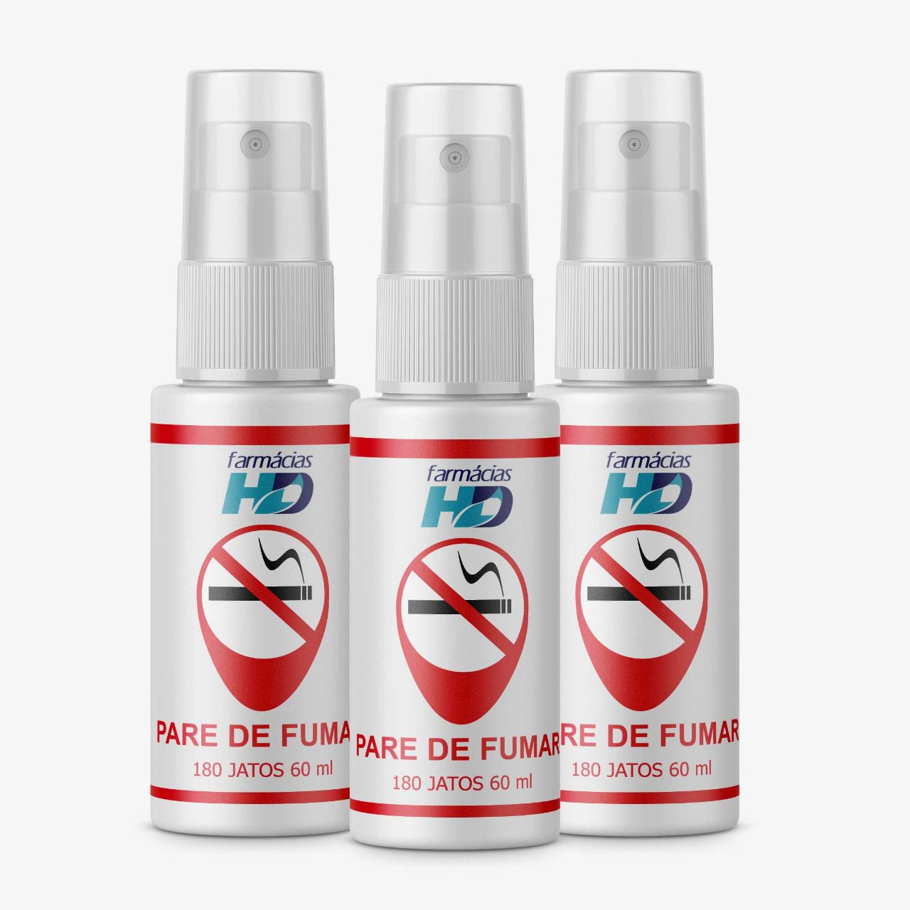 PARE DE FUMAR   . 3 SPRAYS DE 60 ML 180 JATOS