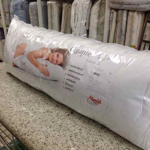 Travesseiro Corpo 0,50x1,40 C/fronha Percal Fibra Siliconada