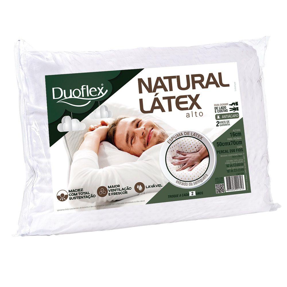Travesseiro Duoflex Natural Látex 50x70x16cm - Ln1100