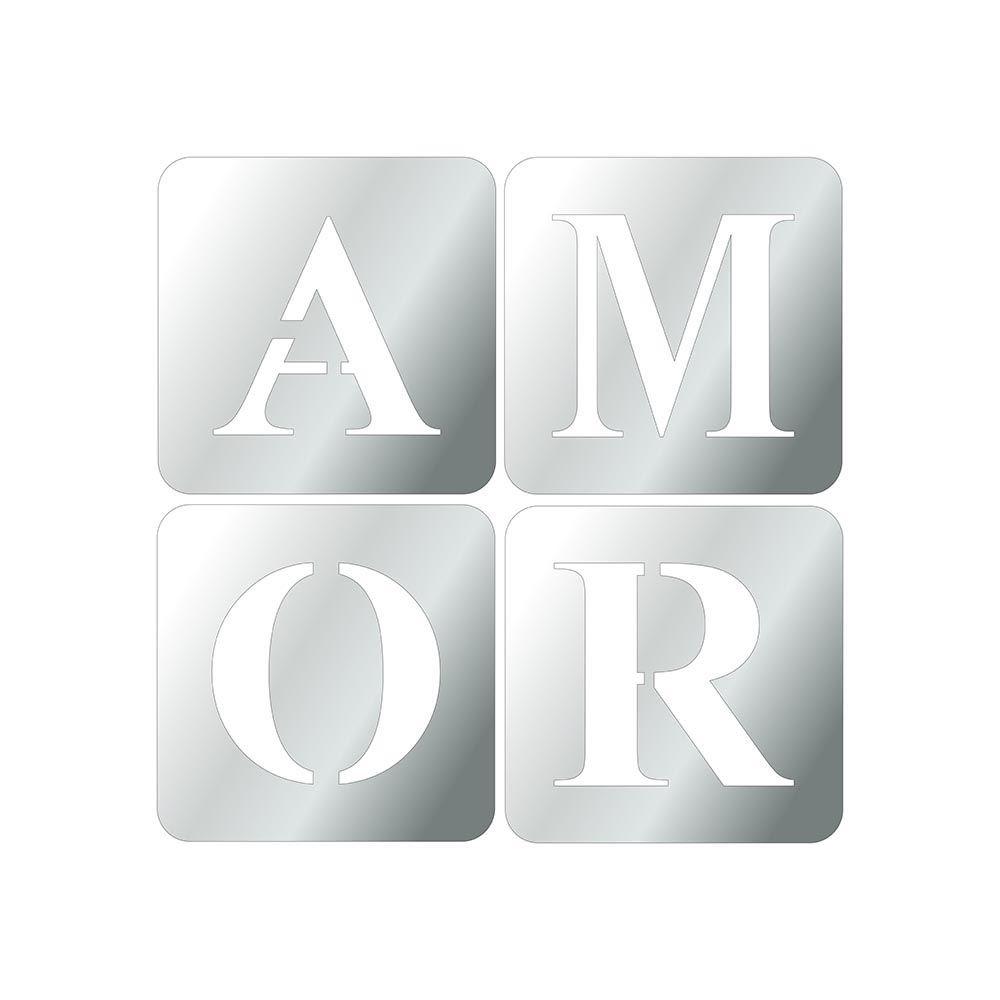 Amor -  Produzido em acrílico espelhado.