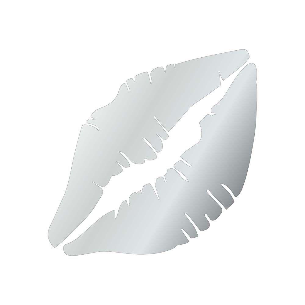 Boca -  Produzido em acrílico espelhado.
