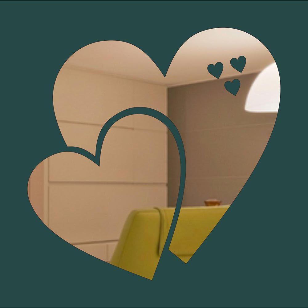 Coração -  Produzido em acrílico espelhado.