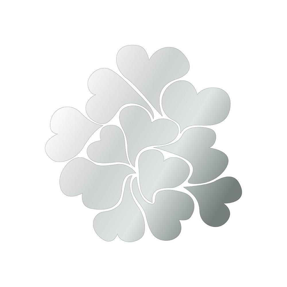 Corações -  Produzido em acrílico espelhado.