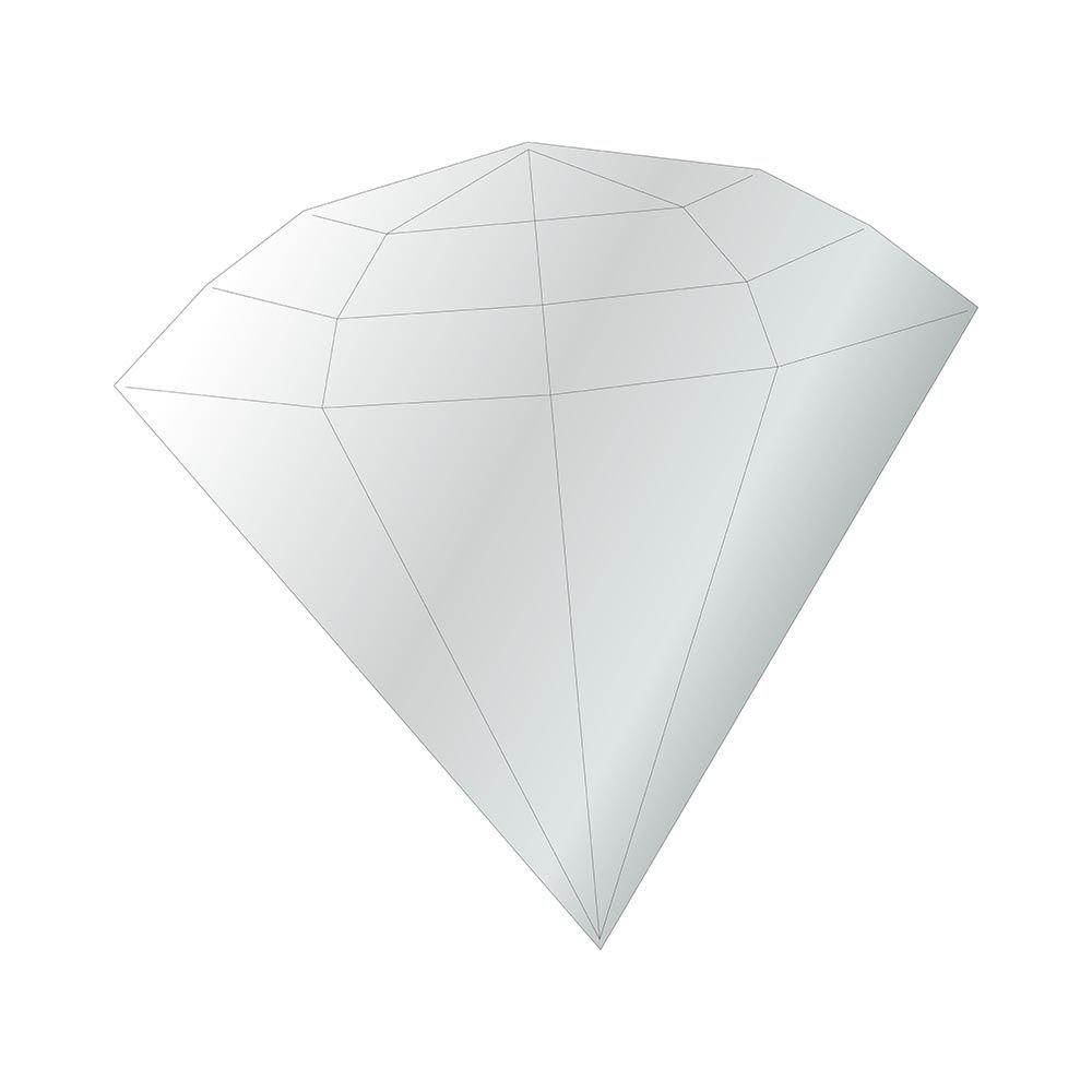Diamante -  Produzido em acrílico espelhado.