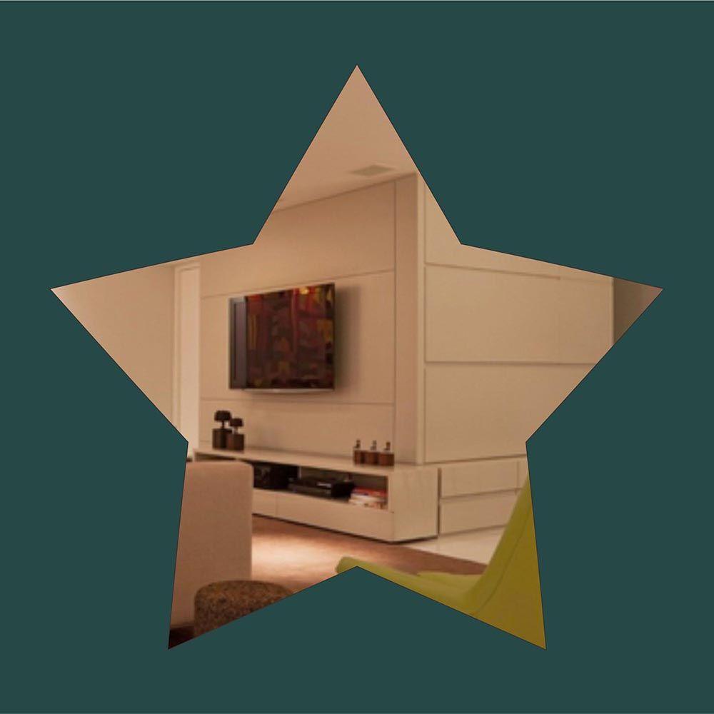 Estrela  -  Produzido em acrílico espelhado.