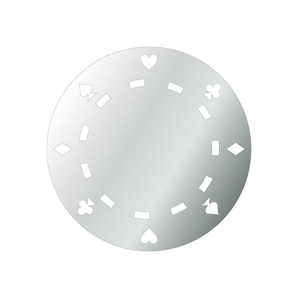 Poker -  Produzido em acrílico espelhado.